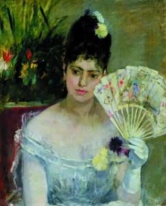 Berthe Morisot (1841-1895) Donna con ventaglio o Il ballo, 1875, Olio su tela, Parigi, Musée Marmottan Monet, dono Eugène e Victorine Donop de Monchy, 1940 © Musée Marmottan Monet, Paris / Bridgeman Images