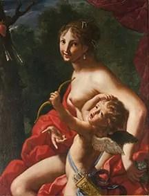 Elisabetta Sirani Venere e Amore , 1664 Olio su tela, Collezione Privata