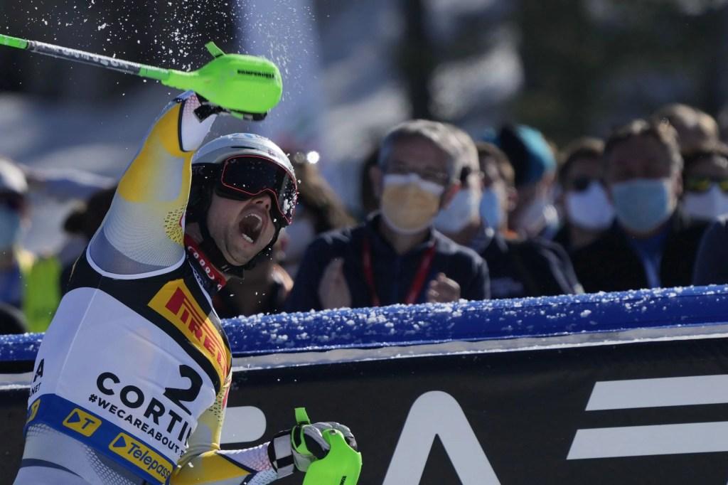 Cortina 2021 Campionati mondiali di Sci alpino. Sebastian Johan Foss Solevåg (Norvegia) Cortina d'Ampezzo 21/02/2021 Photo: Pentaphoto Gio Auletta.