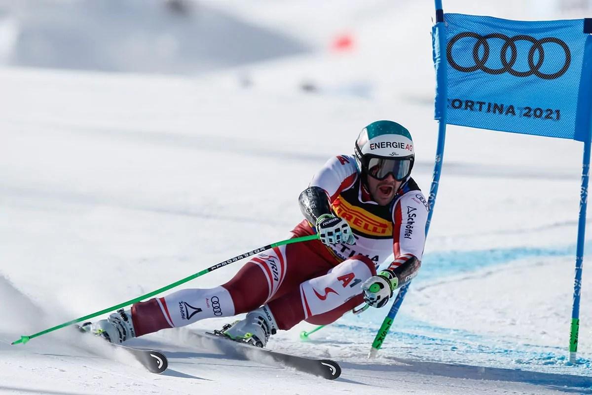 Campionati del mondo di sci alpino Cortina 2021,  Cortina d'Ampezzo 11/02/2021 Super G maschile: Vincent Kriechmayr (AUT), (Photo: Gabriele Facciotti Pentaphoto).