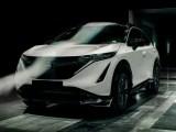 La Nissan Ariya nella galleria del vento (ph. Nissan).