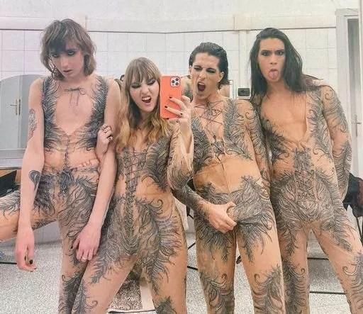Sanremo 2021 moda gender fluid Maneskin