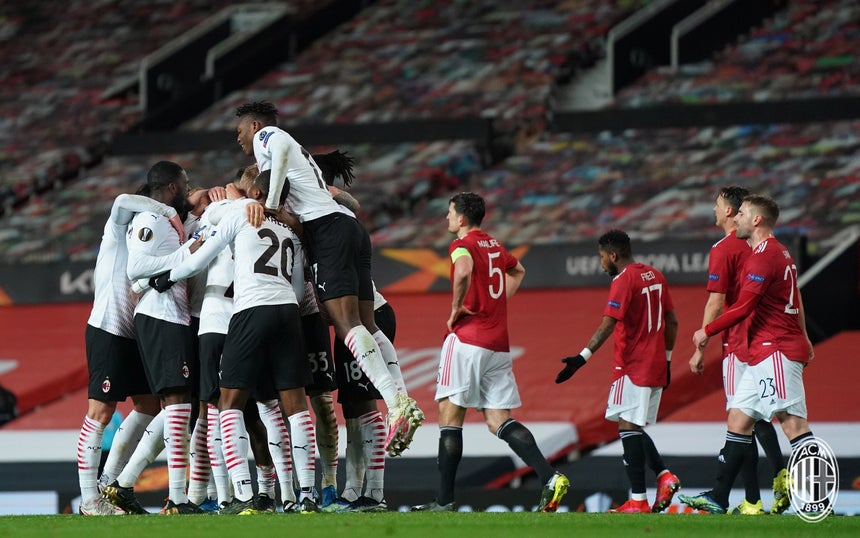 Europa League: Milan 1 - 1 Manchester United. Rossoneri convincenti, ma non vanno oltre il pari all'Old Trafford. (credit AC Milan Official Website Fotogallery)