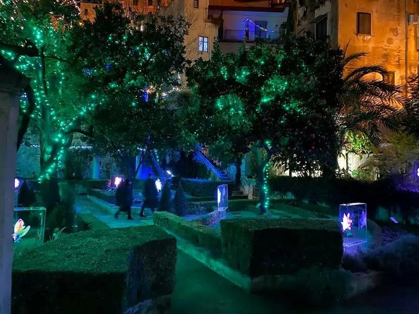Il Giardino della Minerva in notturna (copyright Giardino della Minerva).