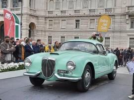 """Lancia Aurelia B24del 1955, carrozzeria Pinin Farina, versione Spider """"America"""" (foto C. Carugati / In24)."""