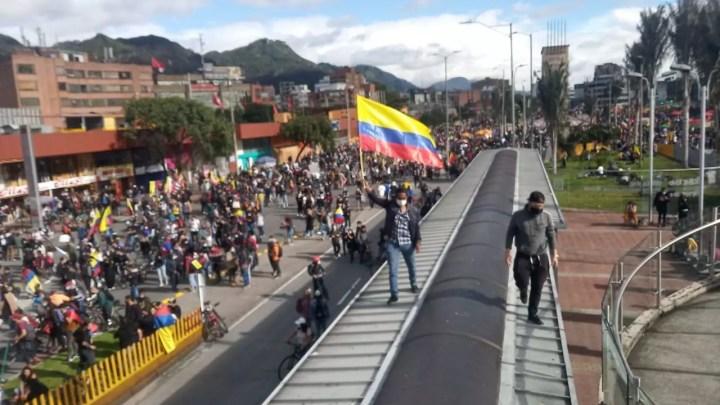 Proteste a Bogota, Colombia