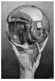 M. C. Escher, Mano con sfera riflettente