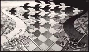 M. C. Escher, Giorno e Notte