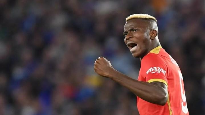 Leicester-Napoli: doppio vantaggio per gli inglesi, poi il Napoli rimonta trascinato da Osimhen, in doppietta. (credit Napoli Official Website Photogallery)