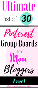 Pinterest Group Boards for Mom Bloggers