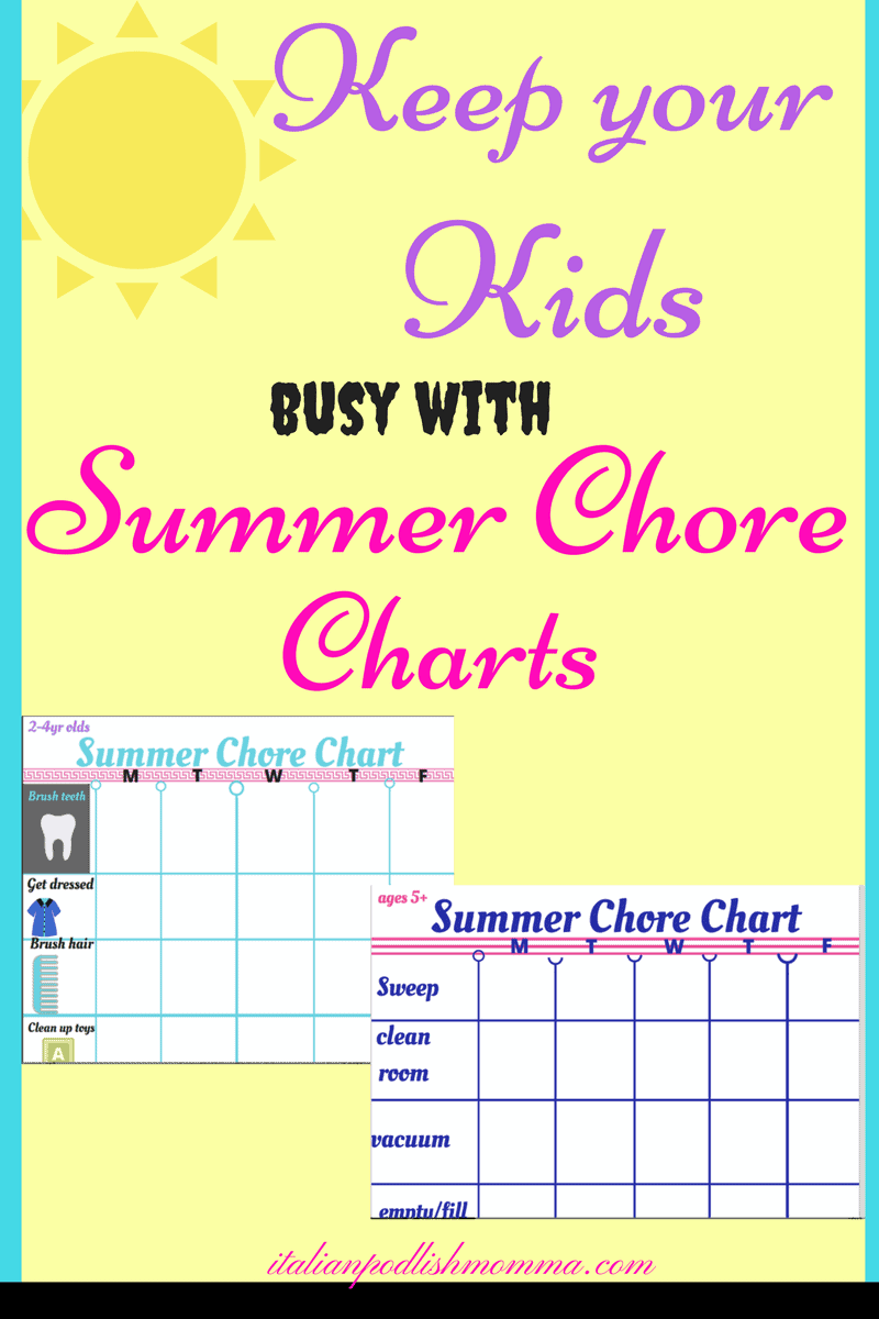 picture relating to Summer Chore Chart Printable named No cost Chore Chart Printables For Small children -