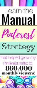 Secret manual Pinterest strategy