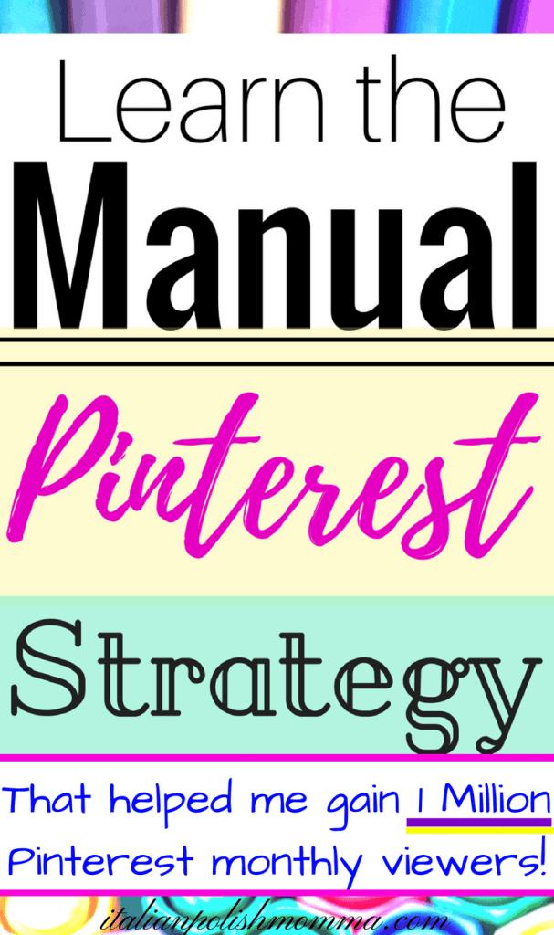Manual Pinterest Strategy