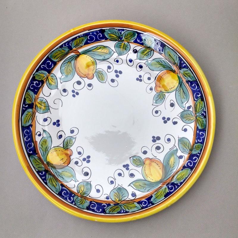 kitchen utensil holders delta linden faucet alcantara round platter - italian pottery outlet