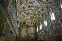 Michelangelos Painting of the Sistine Chapel Ceiling ...