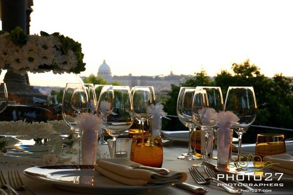 wedding to Villa Borghese restaurant