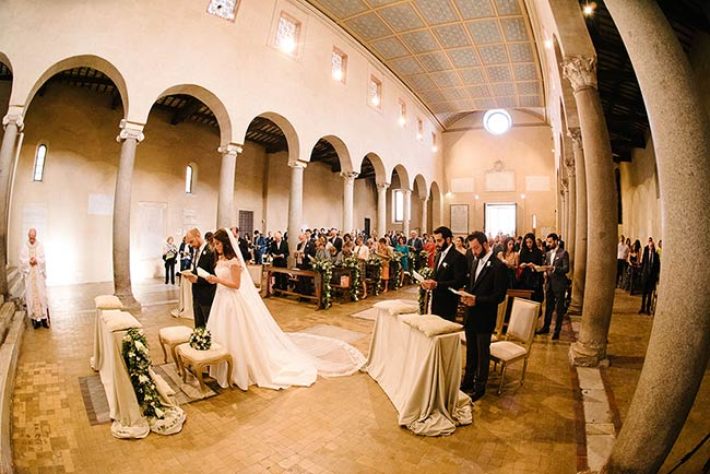 Catholic Italian Lebanese Wedding Ceremony In Rome