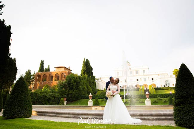 Jewish wedding reception at Villa Miani