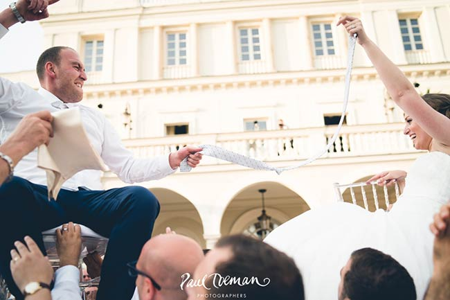Jewish wedding reception at Villa Miani