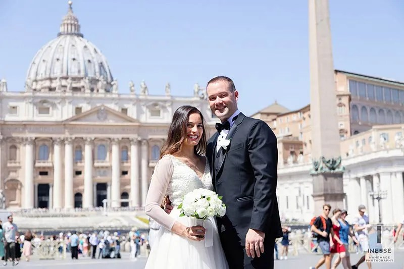 wedding in the heart of Vatican city