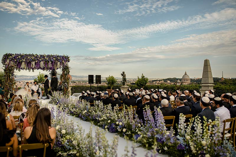 French Jewish Wedding in Rome
