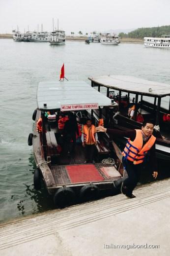 trasferimento dal porto alla nave da crociera