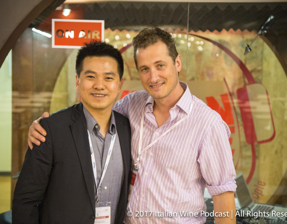 Zhu Mi (Vinitaly International Academy student) with Monty Waldin