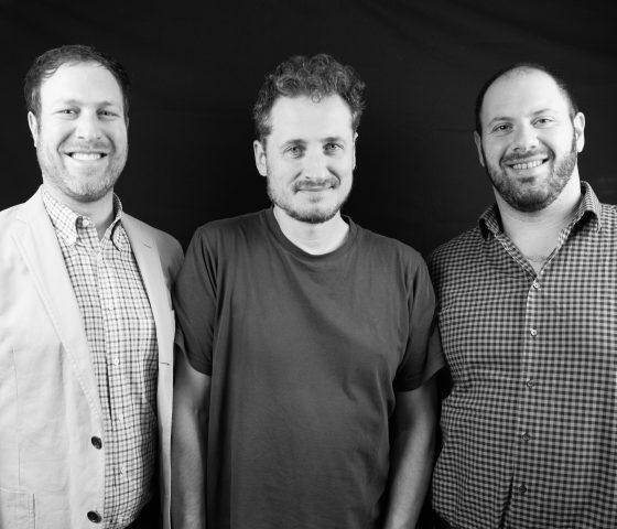 Adam Teeter and Zach Geballe (left & right) and Monty Waldin (centre)