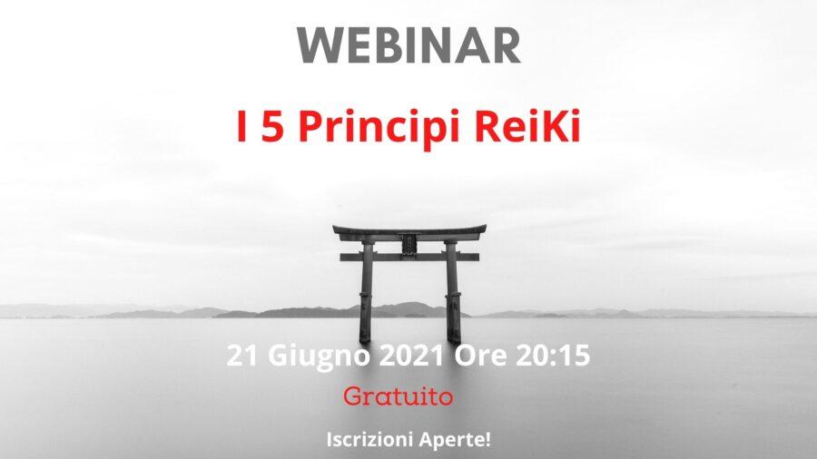 """Webinar gratuito """"I cinque principi ReiKi"""""""