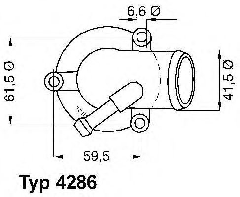 Termostato Wahler 4286.87D MERCEDES-BENZ CLASSE C (W203) C