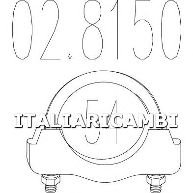 FASCETTA MARMITTA MTS 02.8150 ABARTH, ALFA ROMEO, AUDI