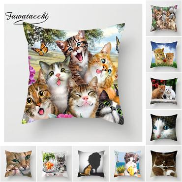 Cover for sofa pillow 🙀 Many images of cats