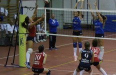 Prato Volley Project C f Scipioni in attacco