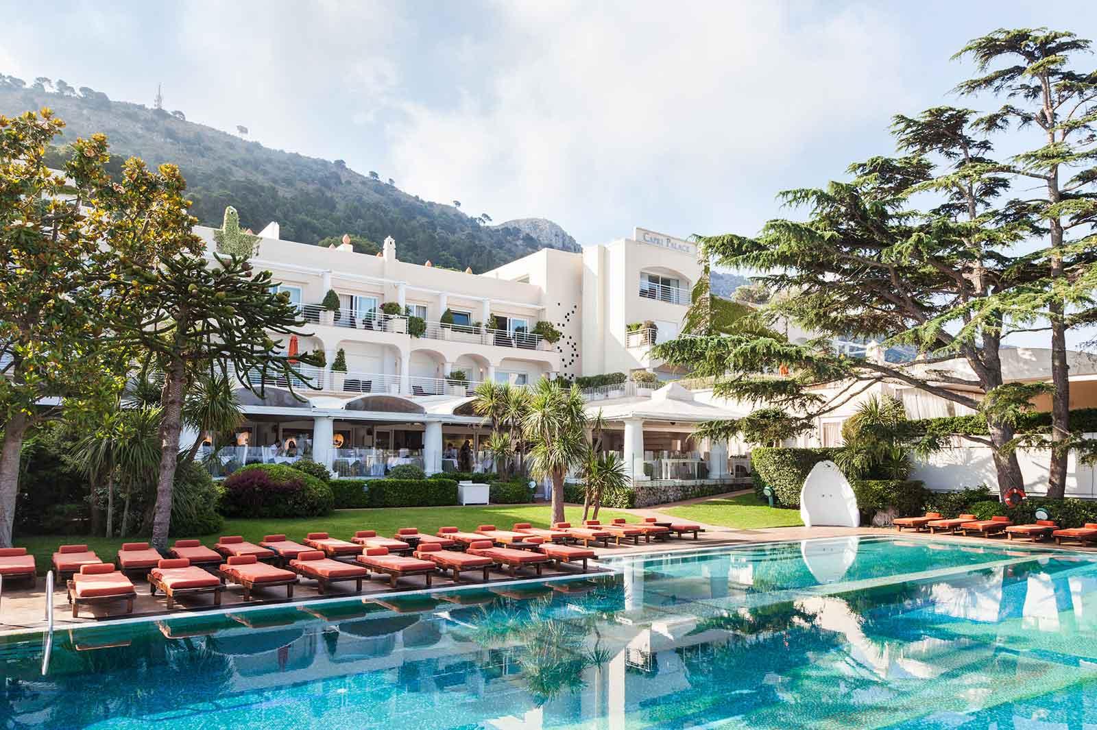 Piscine du Capri Palace Hotel, Anacapri Italie