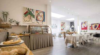 Hotel Bernina Milan, Italie : Salle de petit déjeuner