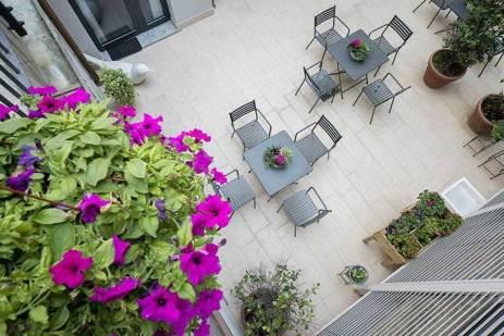 Hotel Bernina Milan, Italie : Cour intérieure