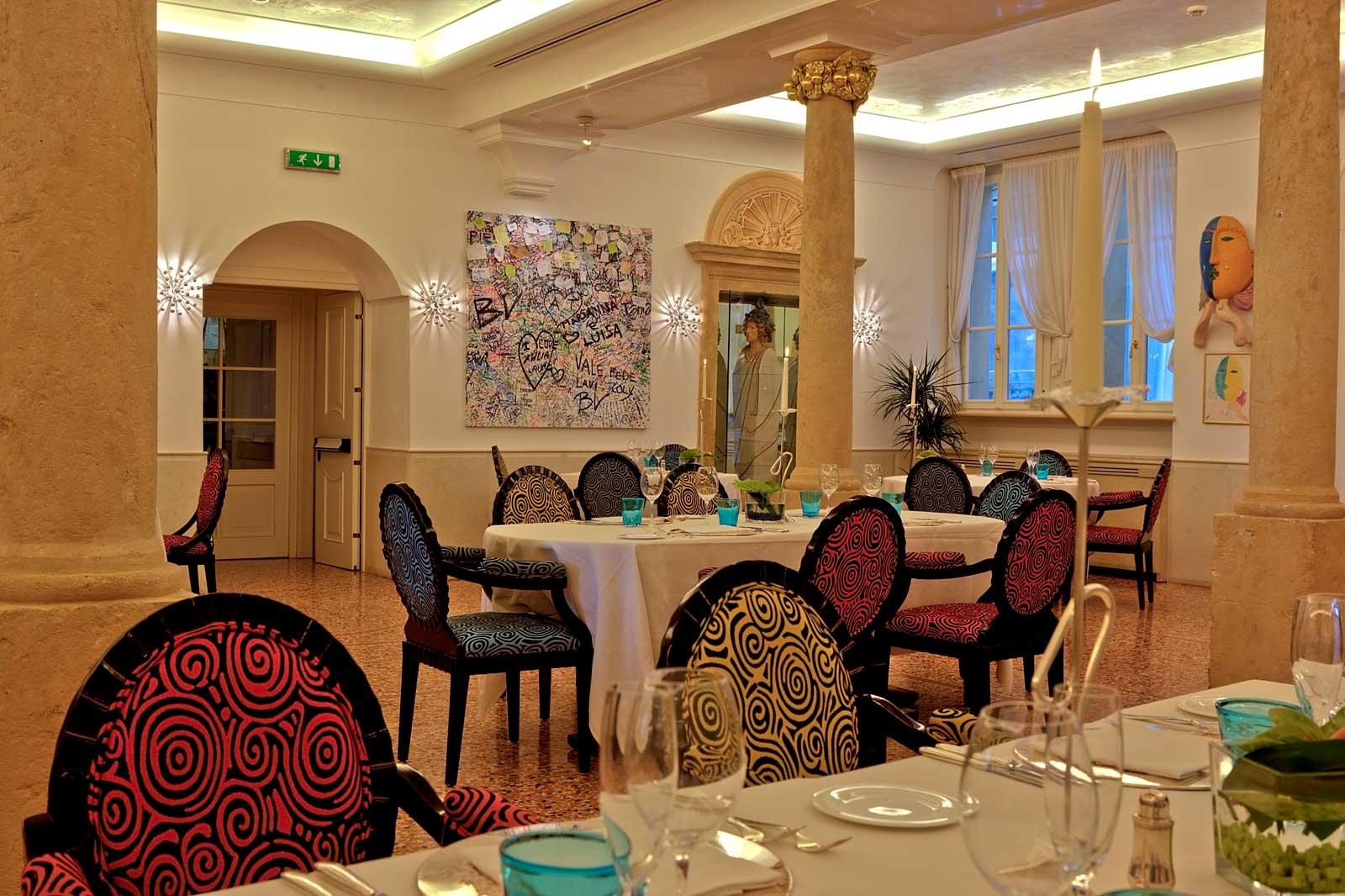 Byblos art hotel Villa Amistà Verona Italie : Atelier restaurant