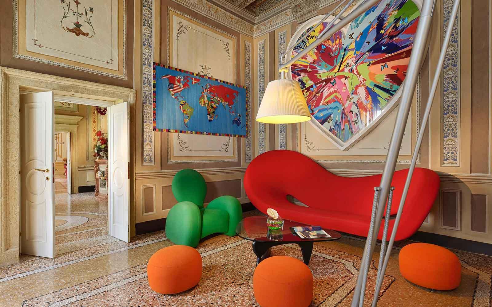 Byblos Art Hotel Villa Amistà Verona Italie : Salon