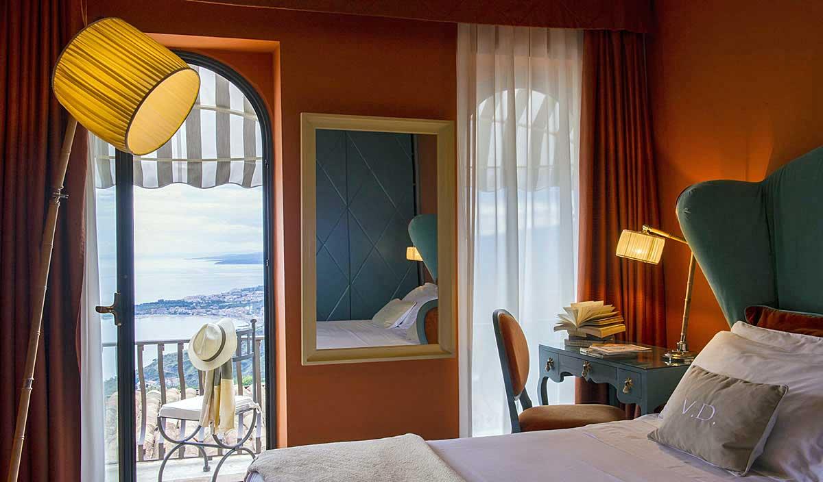 Villa Ducale Hotel de charme Taormina, Sicile (chambre)