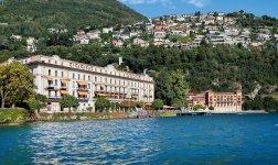 Villa d'Este hotel de luxe : vue du lac de Come Italie