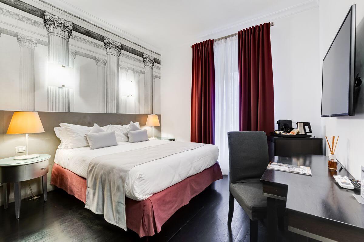 Une chambre de la Residenza A (Via Veneto Rome, Italie)