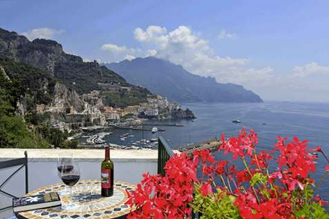 Hotel Il Nido Amalfi Italie : panorama sur la mer