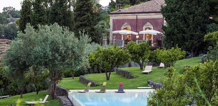 Monaci delle Terre Nere, hotel de charme en Sicile : piscine