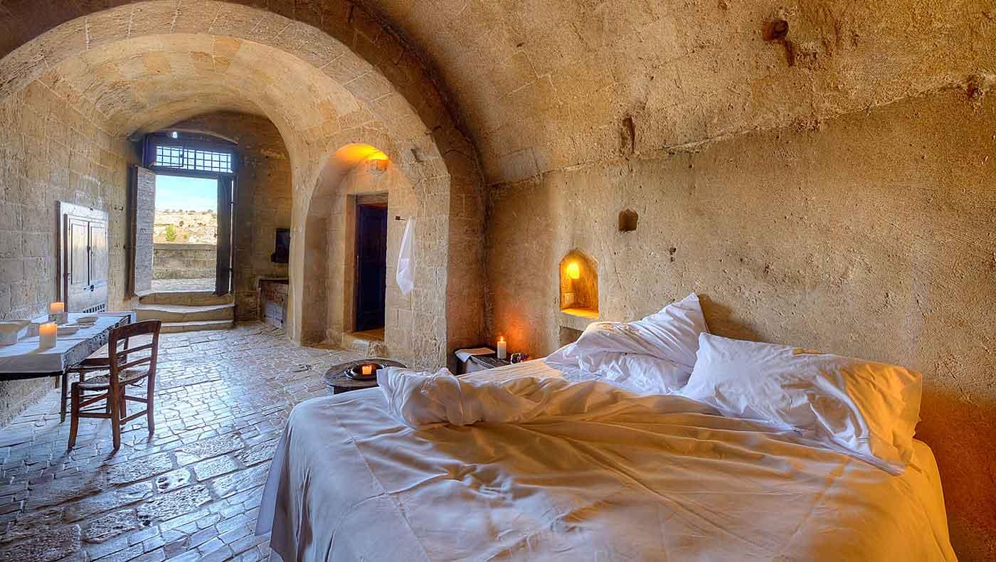 Le Grotte Della Civita, Hotel de charme Matera Italie : Grotta 7 (chambre supérieure)