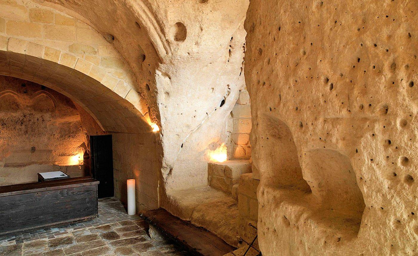 Le Grotte Della Civita, Hotel de charme Matera Italie : Reception