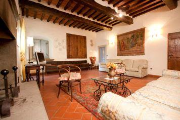 Torre Santa Flora, hotel de charme en Toscane (Arezzo, Subbiano) : Junior Suite dans la tour médiévale