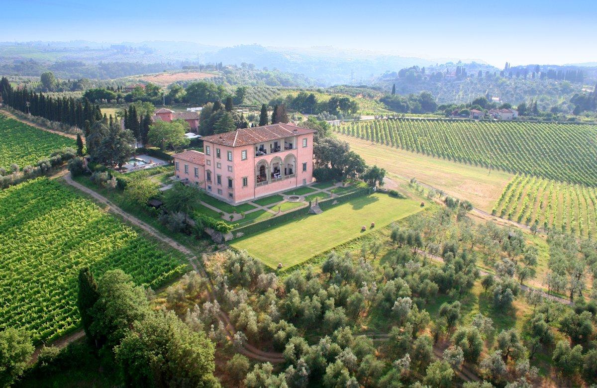 Villa Mangiacane, hotel de luxe en Toscane