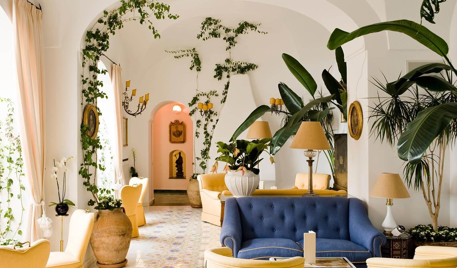 Salon - Le Sirenuse Hotel de luxe à Positano, côte Amalfitaine (Italie)
