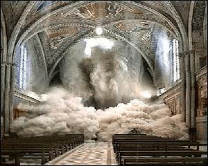 instorten kathedraal assisi