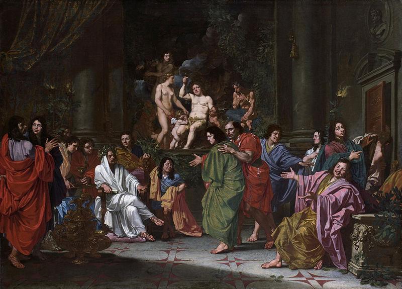 Inwijding van een nieuw lid van de Bentveughels te Rome.